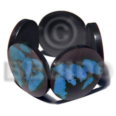 50mm round black resin Resin Bangles