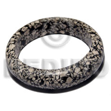 H=20mm thickness=10mm inner diameter=65mm marbled Resin Bangles