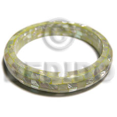 Neon green kabibe shell Resin Bangles