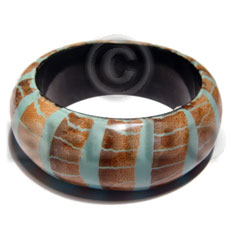 laminated wooden bangle  dried leaves  ht=33mm thickness=13mm inner diameter=70 mm - Resin Bangles