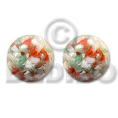 hand made Multi clear coral crazy cut Resin Earrings
