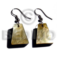 hand made Dangling 18mmx14mm pyramid mop Resin Earrings