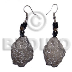 Dangling 32mmx28mm clear resin crater Resin Earrings