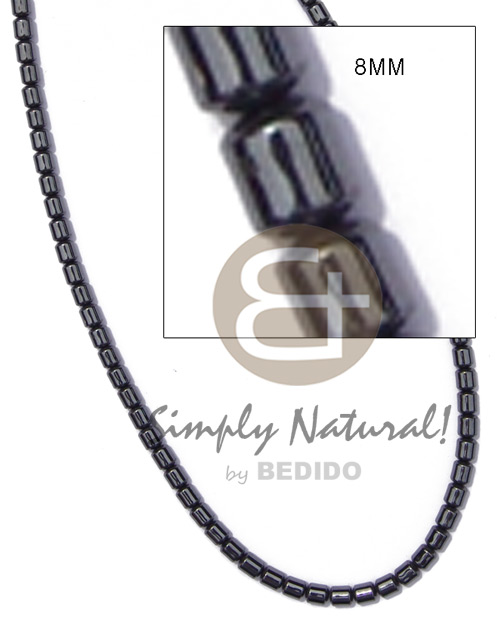 Hematite silvery shiny Resin Necklace Stone Necklace