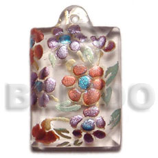 Dogtag 45mmx30mm clear white resin Resin Pendants
