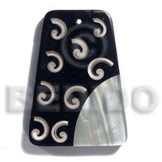 hand made 60mmx45mm 7mm thickness everlasting Resin Pendants