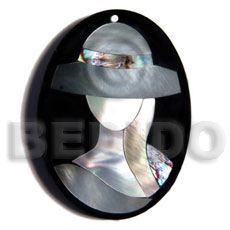 hand made 50mmx38mm oval pendant elegant hat Resin Pendants
