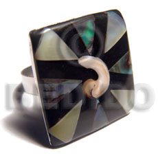 Big accent haute hippie square Rings