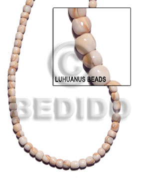 hand made 4-5mm pokalet round luhuanus beads Round Shell Beads