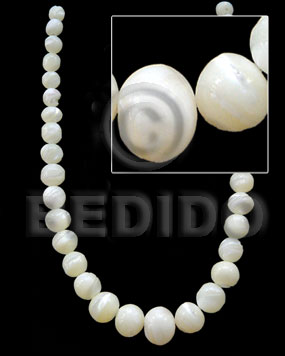 Graduated troca beads -male Round Shell Beads