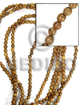 beads bayong 4-5mm - Round Wood Beads