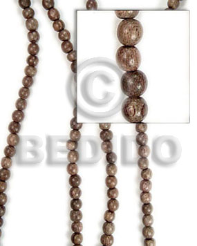 greywood beads 10mm - Round Wood Beads