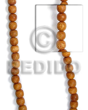 Bayong beads 6mm Round Wood Beads