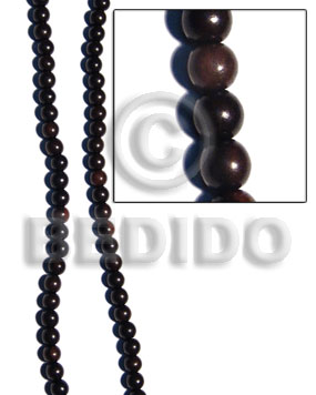 tiger camagong round beads 6mm - Round Wood Beads