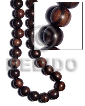 Tiger camagong round wood beads Round Wood Beads