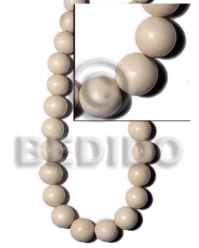 20mm buffed bleach natural white Round Wood Beads