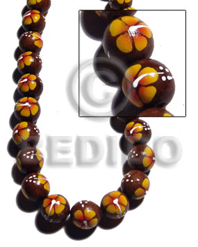 hand made 15mm robles round beads Round Wood Beads