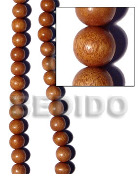 Imitation Bayong Round Wood Beads