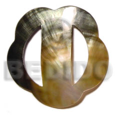 Scallop blacklip buckle 70mm Sarong Shell Buckle
