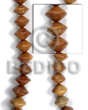 robles saucer 10x10 - Saucer & Diamond Wood Beads
