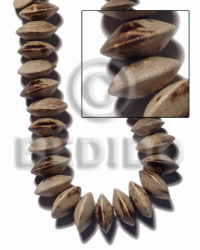 """greywood"" saucer ""8mmx5mm"" 85 Saucer & Diamond Wood Beads"