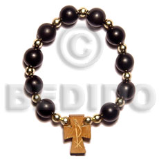 Black buri seeds wood beads rosary Seeds Bracelets