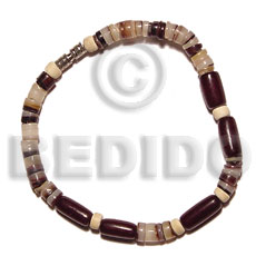 hand made Hammershell heishe natural.buri seed Seeds Bracelets