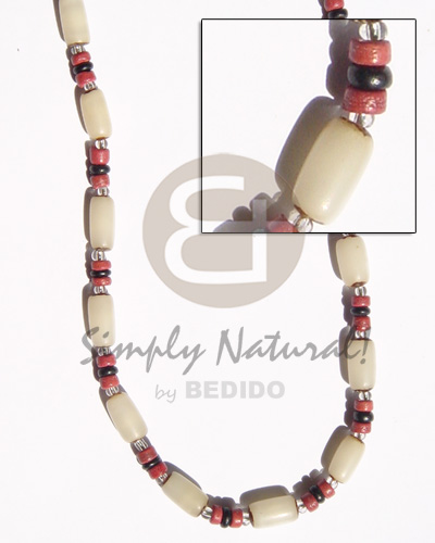 White buri tube 4-5 Seeds Necklace