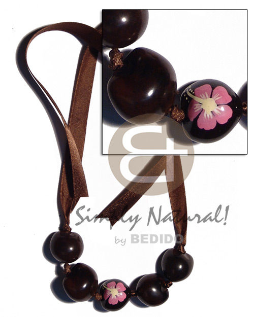 Kukui Nuts Ribbon Choker