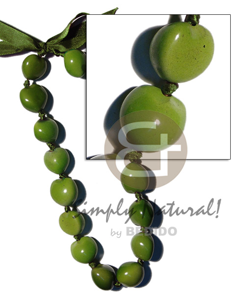 Kukui nuts in Seeds Necklace