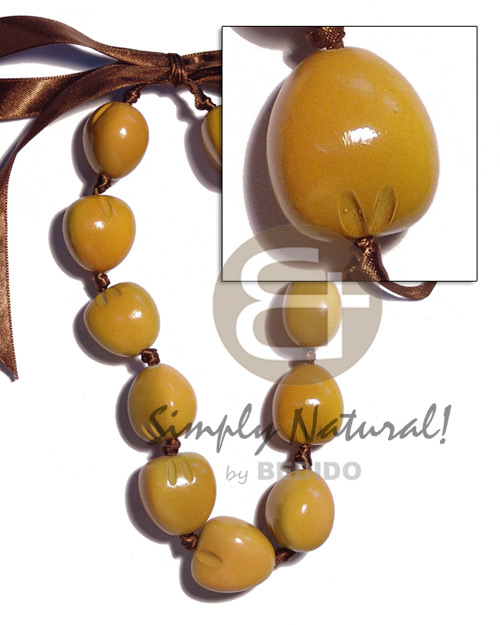 Kukui nut choker in Seeds Necklace