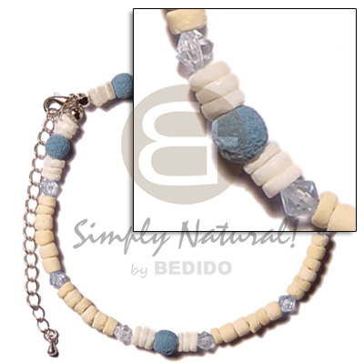 2-5mm coco pokalet blue Shell Anklets