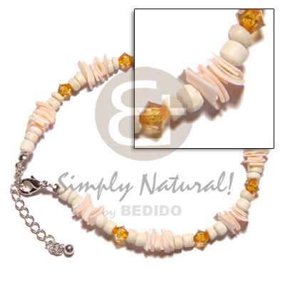 4-5mm coco pokalet bleach Shell Anklets