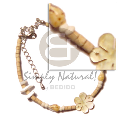 2-3 coco heishe natural Shell Anklets