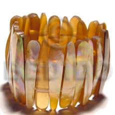 Brownlip elastic bangle resin Shell Bangles