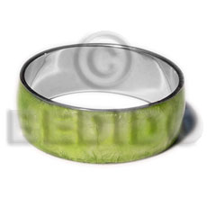 Laminated neon green capiz Shell Bangles