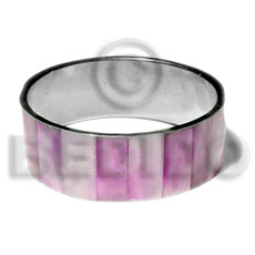 Laminated pink hammershell in 1 Shell Bangles