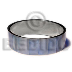 Laminated blue hammershell in 3 4 Shell Bangles