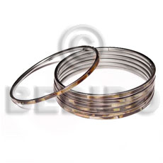 Laminated brownlip in 3mm stainless Shell Bangles