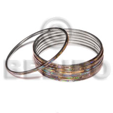 Laminated hammershell paua in 3mm Shell Bangles