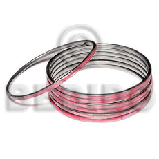 Laminated hammershell pink in 3mm Shell Bangles