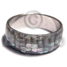 hand made Natural abalone shell blocking in Shell Bangles