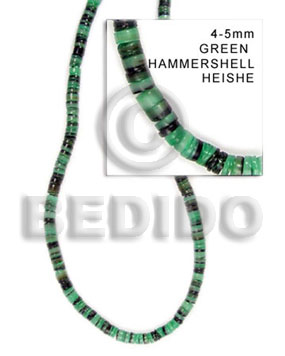 4-5mm hammer shell green Shell Beads