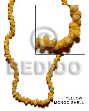 Yellow mongo shell Shell Beads