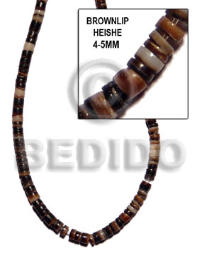 4-5mm brownlip heishe Shell Beads