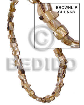 Brown lip peanut chunks Shell Beads