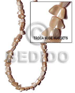 Troca natural nude nuggets standing Shell Beads