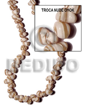 Troca natural nude oyok nuggets Shell Beads
