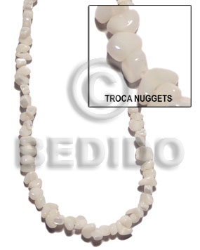 Troca nuggets Shell Beads