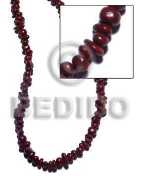 Coral nuggets maroon tone Shell Beads